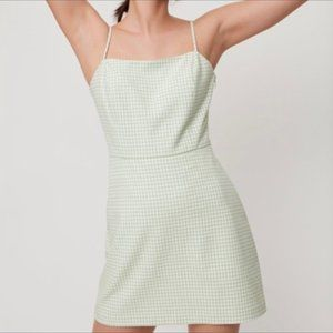 Aritzia Wilfred New Classic Mini Dress Plaid Green